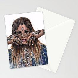 Bohemian Girl Stationery Cards