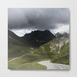 Alpine Routes Metal Print