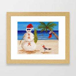 Christmas Sandman Framed Art Print