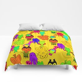 Yellow Clown Comforters