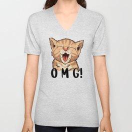 Omg Cat Unisex V-Neck