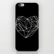 Heart Graphic (Black) iPhone & iPod Skin