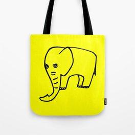Elephant yellow Tote Bag