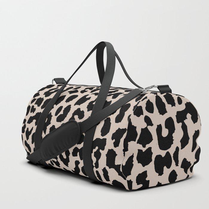 Tan Leopard Duffle Bag