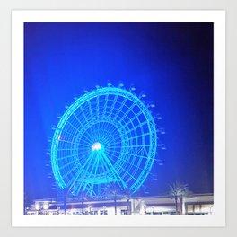 Blue Wheel Art Print