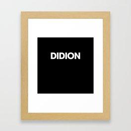 didion Framed Art Print