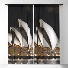 Australia Photography - The Sydney Opera House Lit Up In The Dark Night Blackout Curtain