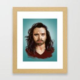 bucky with the good hair Framed Art Print
