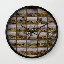 "Jan van Kessel de Oude ""The four parts of the world"" Wall Clock"