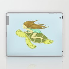 The Girl and the Turtle Laptop & iPad Skin