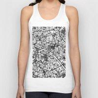 paris Tank Tops featuring Paris by Mondrian Maps