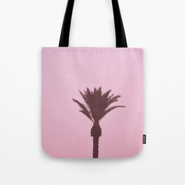 Palm Tree With Pink Background Tote Bag