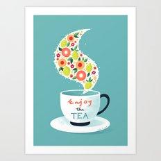 Enjoy the Tea Art Print