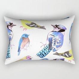 Bird lover- Birds in tetrad color scheme Rectangular Pillow