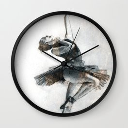 Ballet dancer out in the big city Wall Clock