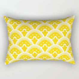 Fan Pattern Yellow 201 Rectangular Pillow