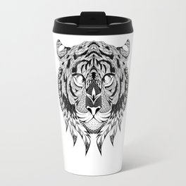 TIGER head. psychedelic / zentangle style Travel Mug