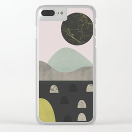 Stones and moon Clear iPhone Case