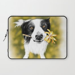 Cute Border Collie Laptop Sleeve