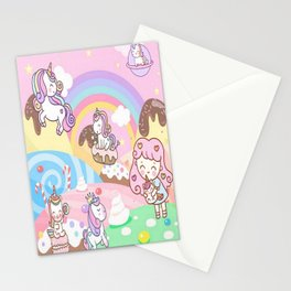 Unicorn Party in Candyland Stationery Cards