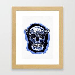 Moth Skull Framed Art Print
