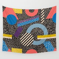 eames Wall Tapestries featuring Memphis Inspired Pattern 4 by Season of Victory