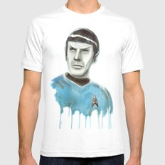Live Long and Prosper Mens Fitted Tee White MEDIUM