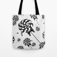 goth Tote Bags featuring Goth Lollies by All Is One