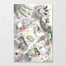 Creature Feature Scavenger Hunt Canvas Print