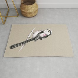 Tailed tit marker drawing Rug