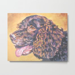 American Water Spaniel dog portrait from an original painting by L.A.Shepard Metal Print