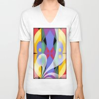 milky way V-neck T-shirts featuring Milky Way by Kristine Rae Hanning