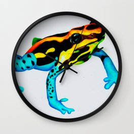 Vibrant Poison Frog Wall Clock