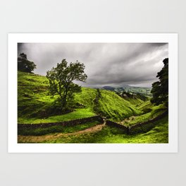 Top Of Cavedale. Derbyshire in The Peak District National Park. Art Print