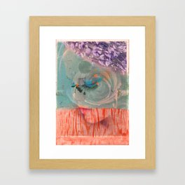 lavender, blue & peach portrait Framed Art Print
