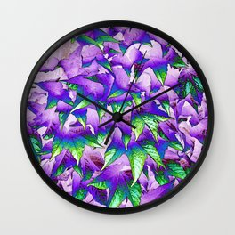 Leaves... Wall Clock