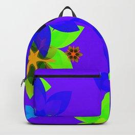 Retro 60's Flower Power Art Backpack