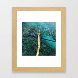 The Float of an Outrigger in Tahiti Framed Art Print