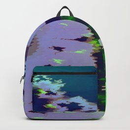 Green fire on the desert plains Backpack