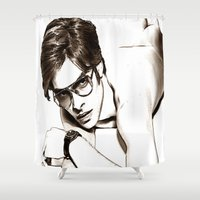 tom hiddleston Shower Curtains featuring Tom Ford by arnedayan