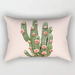 CACTUS AND ROSES Rectangular Pillow