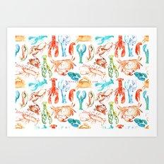 Spring Yeah! - Lobster&Crabs Art Print