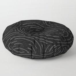 Stat Spatter Swirl - Silver Floor Pillow