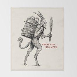 Gruss vom Krampus Throw Blanket