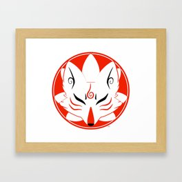 Kitsune Circle Framed Art Print