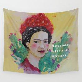 frida y las flores Wall Tapestry