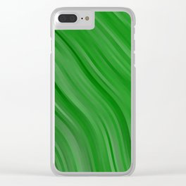 stripes wave pattern 1 depi Clear iPhone Case