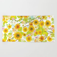 Different Flowers Beach Towel