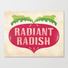Radiant Radish Canvas Print