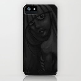 Girl Bathing (inblackandwhite) iPhone Case